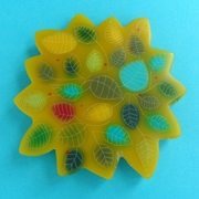 bloomin' yellow brooch
