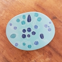 pale blue oval brooch