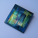 Turquoise Square Brooch