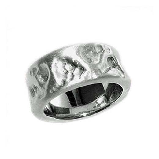 Chunky Hammered Silver Ring