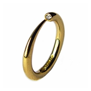 Wiggly narrow tapering 9ct gold ring
