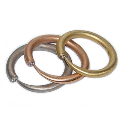 Narrow Tapering 18ct Gold Rings