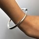 Wiggly Tapering Bangle Worn