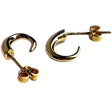 small tapering 18ct yellow gold hoops