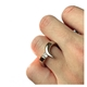 Tension Set 18ct Diamond Point Ring on Finger