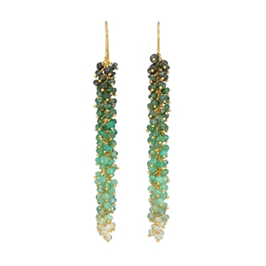 Emerald ombre earrings