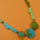 olive and turquoise necklace