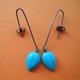 turquoise petal drop earrings