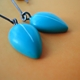 turquoise petal drop earrings detail