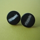 black round studs with aluminium leaf
