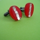red oval cufflinks