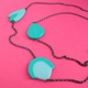long turquoise three piece necklace