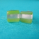 lime mini cube earrings