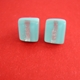 pale blue mini cube earrings