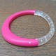 resin bangle-cerise with nude spots