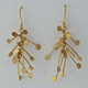 Chaos wire dangling earrings, gold satin by Fiona DeMarco