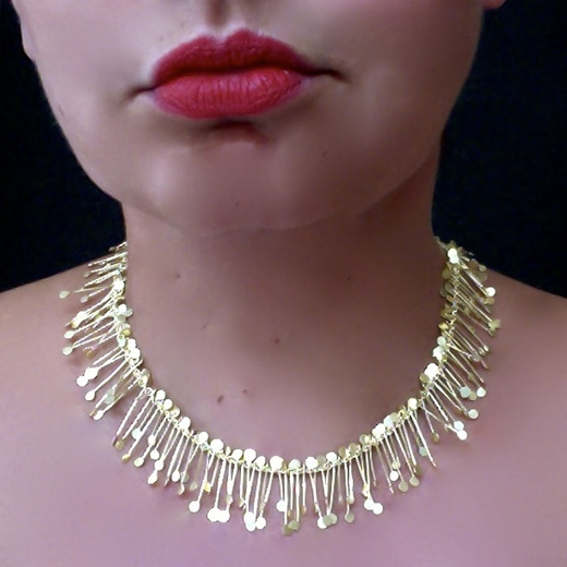 Chaos wire necklace, gold by Fiona DeMarco