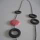 charcoal hoop reversable necklace