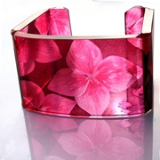 Cheery Pink Square Wide Hydrangea cuff