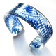 China Blue acrylic cuff narrow