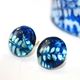 China Blue Stud Earrings with bangle
