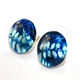 China Blue Stud Earrings