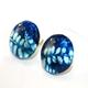 China Blue Stud Earrings