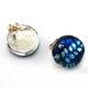 China Blue Stud Earrings Back