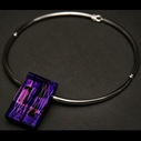 Oblong Torque Choker in Purple
