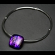 Square Pebble Torque Choker in Purple