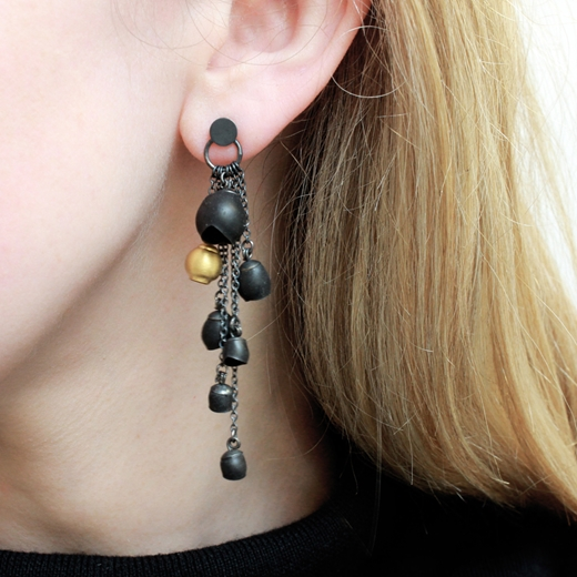 Chromophobia cascade earrings worn