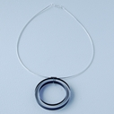 circle necklace black