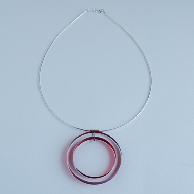 circle necklace red