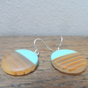 Turquoise mini round earrings