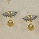 Classic winged hearts with heart drop earrings
