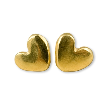 Chubby Heart Stud Earrings