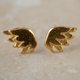 Tiny wing stud earrings