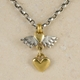 Classic winged heart & heart drop pendant