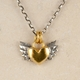Chubby winged heart pendant