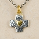 Little square cross pendant