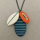 Cluster stripe necklace