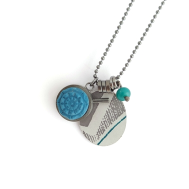 Collection pendant turquoise/grey