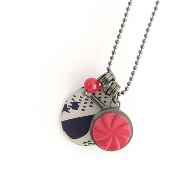 collection pendant red/navy