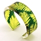 Green  Yellow Conifer cuff Narrow