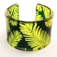 conifer Green & Yellow Perspex Cuff