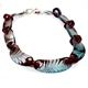 Claret and Blue Conifer Chain Necklace