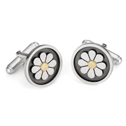 Framed daisy cufflinks
