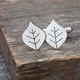 Beech leaf cufflinks 2