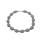 Dark grey curve necklace