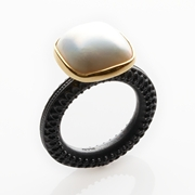 cushion mabe pearl ring